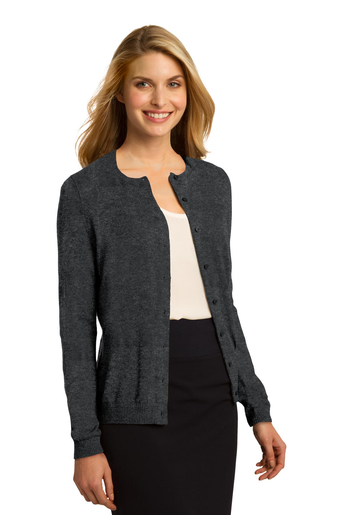 Ladies Fashion Crewneck Cardigan - RCL2300