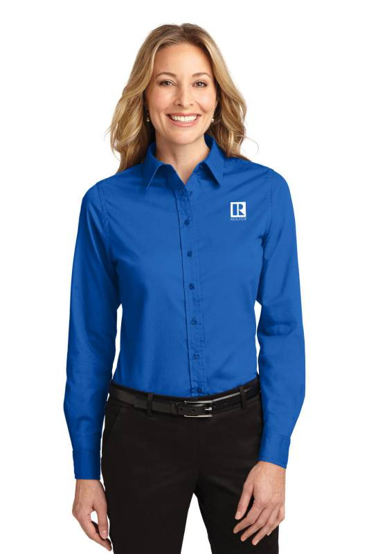 Ladies Long Sleeve Easy Care Shirt Twills,ButtonDowns,Dress,Shirts,Collars,Tall,Woven