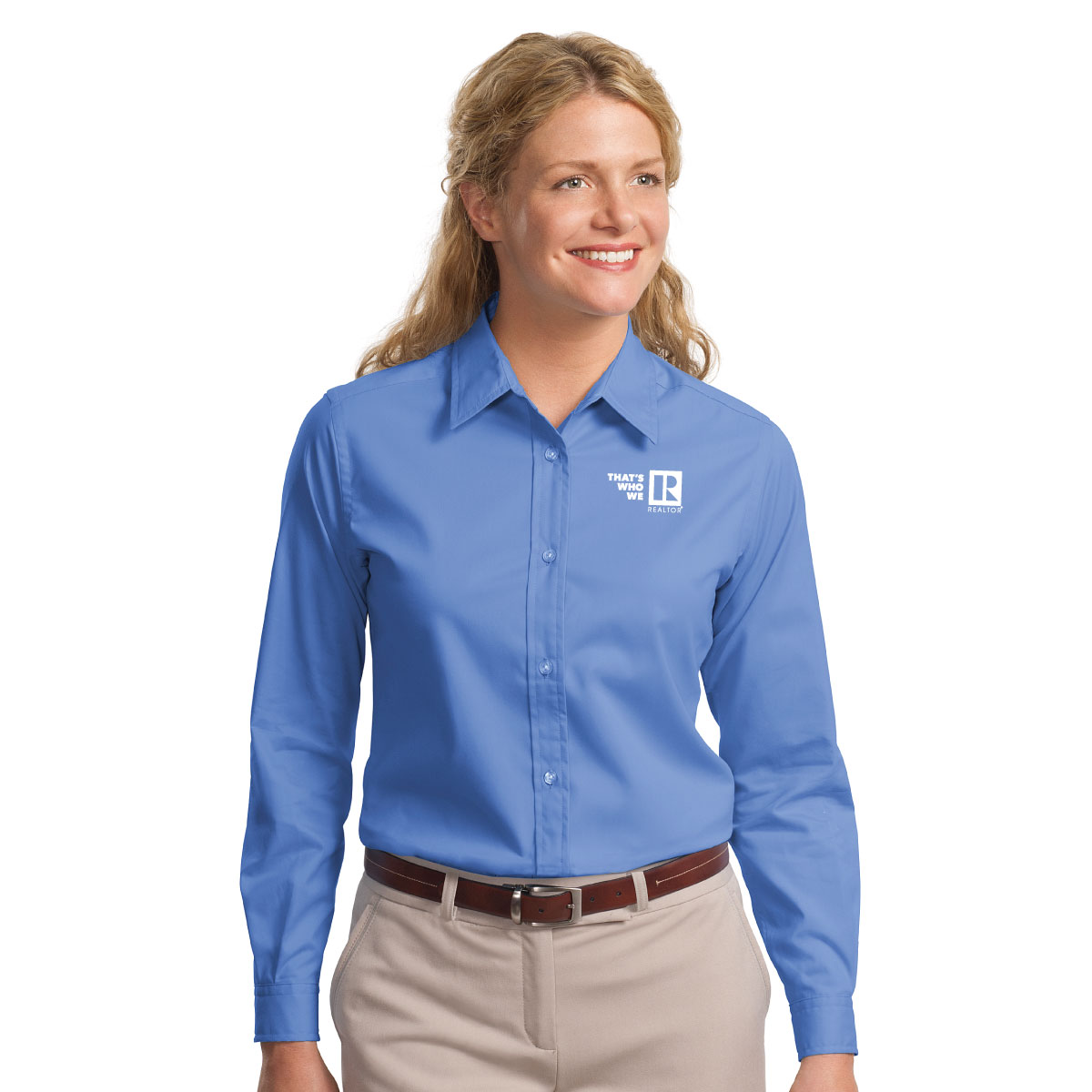 """Thats Who We R"" Ladies Long Sleeve Easy Care Shirt Twwr,Thats,Whos,Wes,Ares,Twills,ButtonDowns,Dress,Shirts,Collars,Tall,Woven"