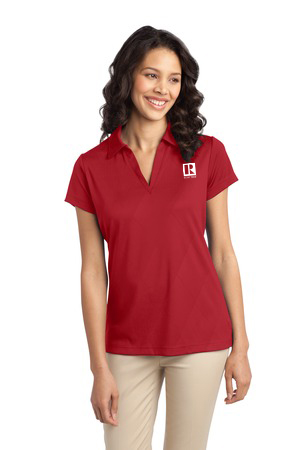 Ladies Tech Embossed Polo