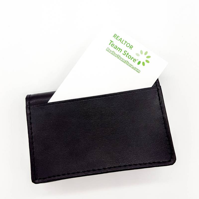 Leather Card Holder with Expandable Pocket - RTS4276