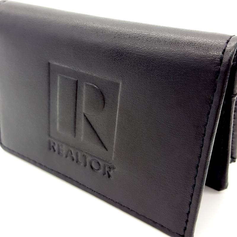 REALTOR® Leather Card Holder with Expandable Pocket (RTS4276)
