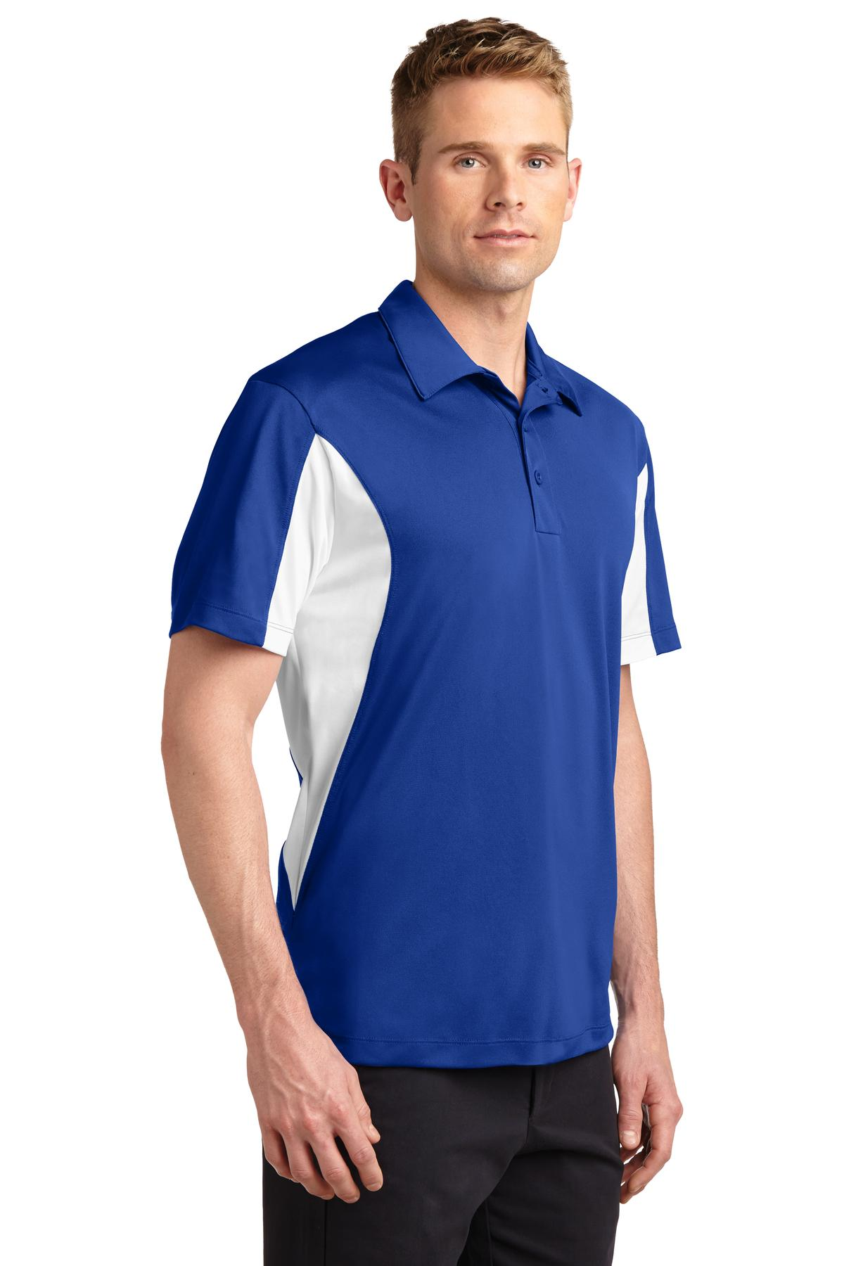 Mens Side Blocked Sport-Wick Sport Shirt - RCG1120