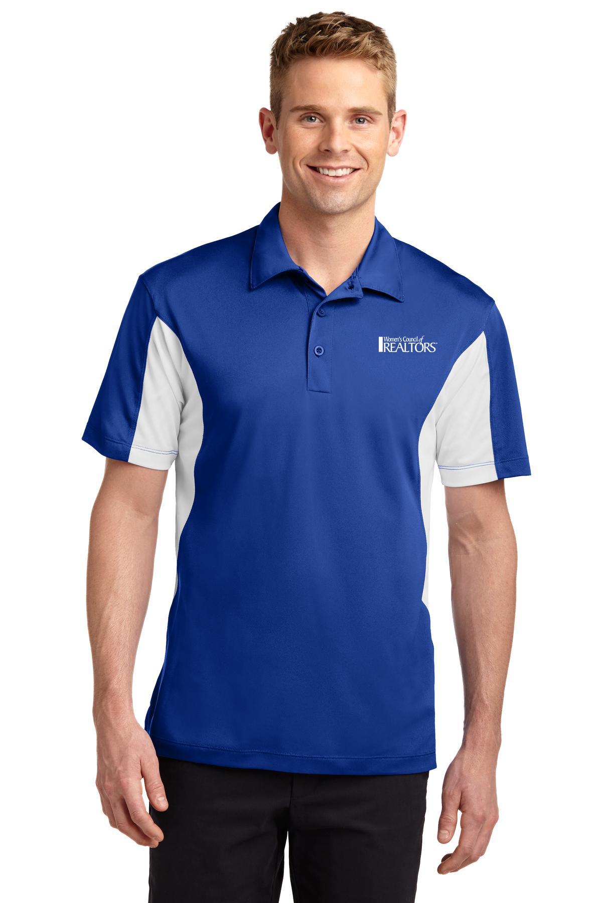 Mens Side Blocked Sport-Wick Sport Shirt Golfs, Shirts, Collared, Polos, Plackets