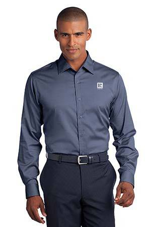 Mens Slim Fit Non-Iron Pinpoint Oxford Oxford,ButtonDowns,Dress,Shirts,Collars,Tall,Woven