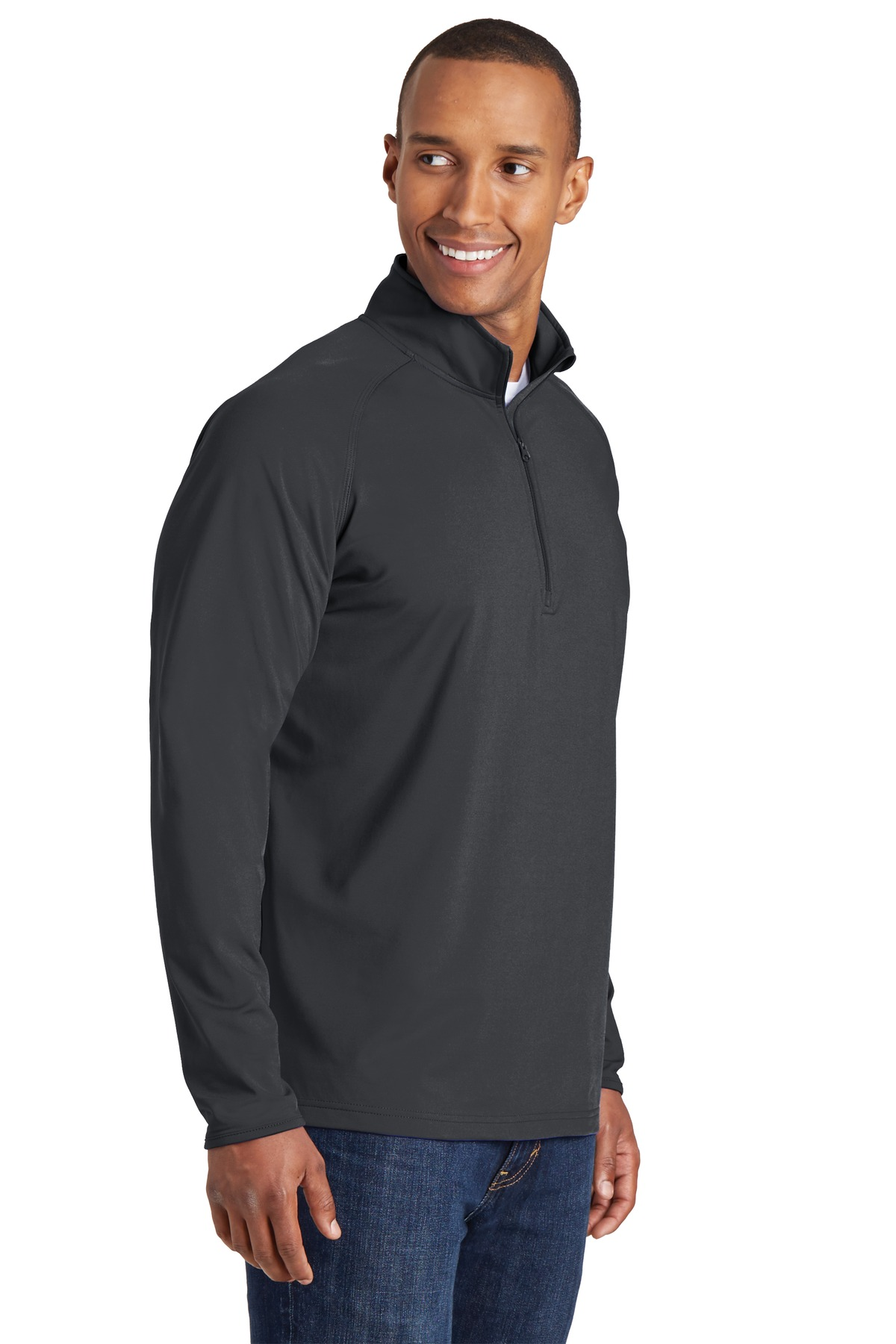 Mens Sport Stretch 1/2 Zip Pullover - RCG1130