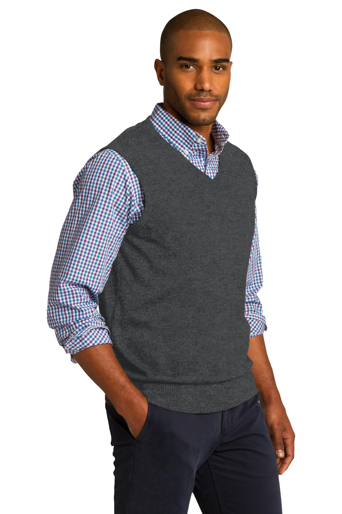 Mens Red Sleeveless Sweater Vest