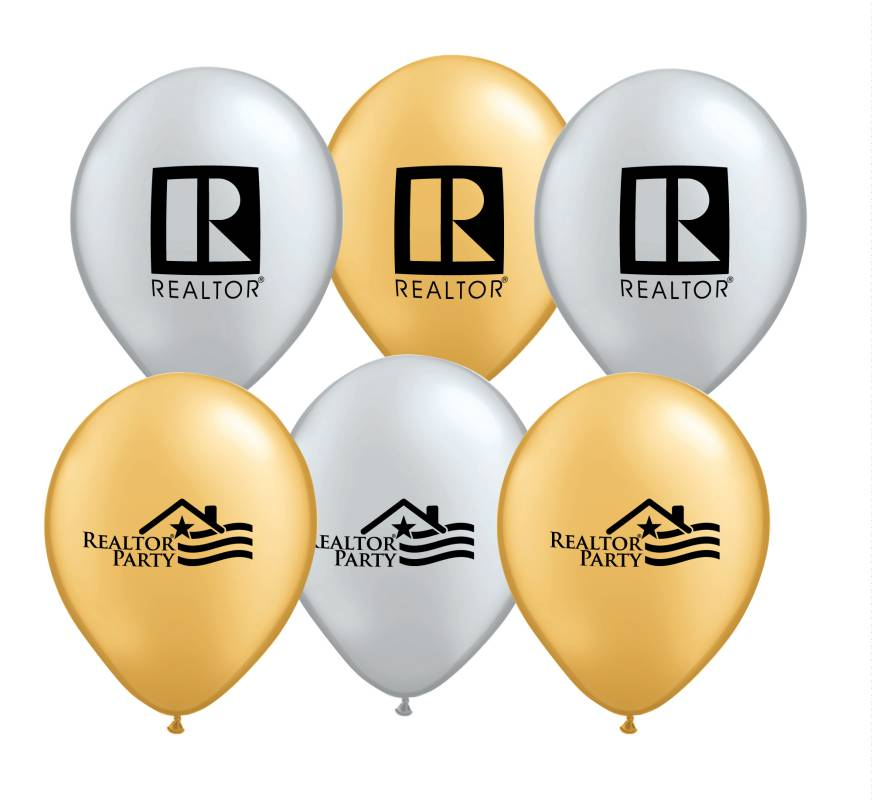 9 Inch Metallic Balloons - Special Order Helium, Baloons, Ballons, REALTOR Party