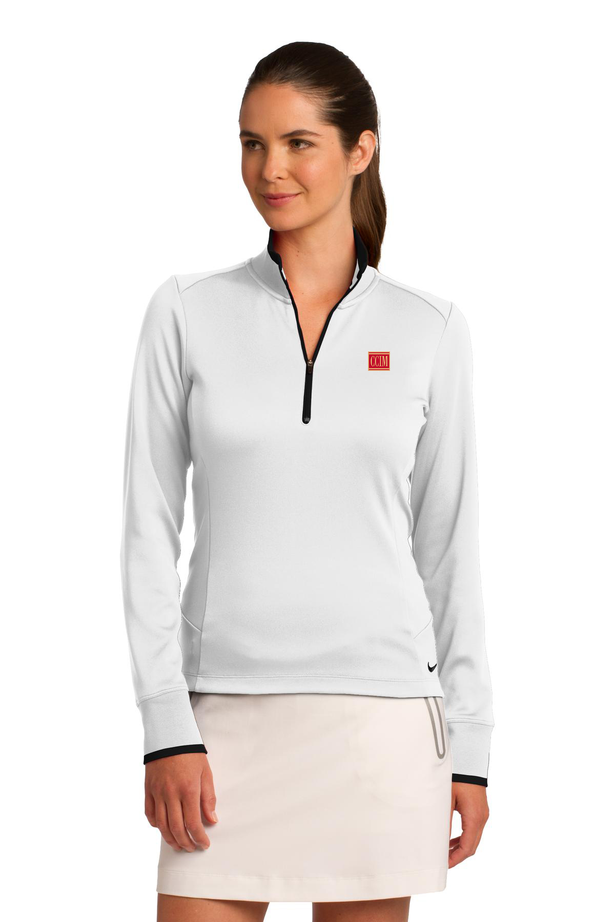 Nike Golf Ladies Dri-FIT 1 2-Zip Cover-Up  CCL3095 - CCIM Team Store 5fc778a78