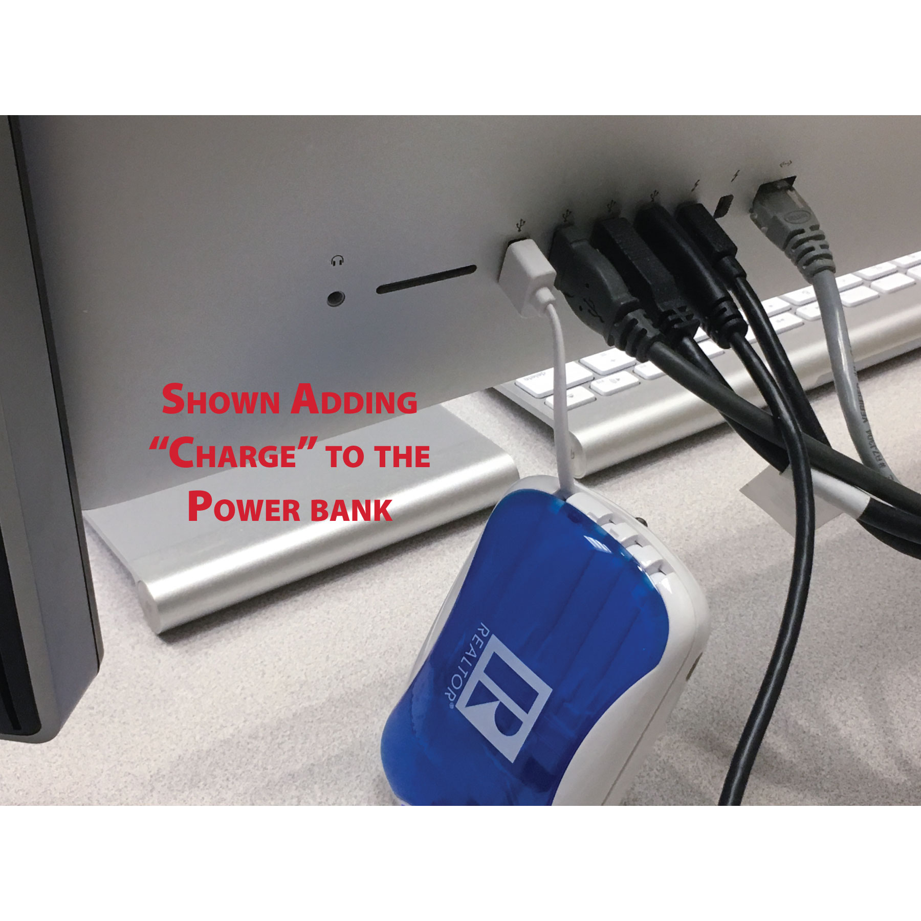 USB Power Bank with Built in Cords (4-in-1) - RTS4613N