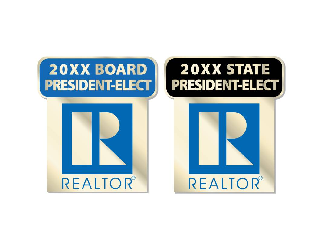 President Elect Pin 2014, 2015, 2016, 2017, 2018, 2019, 2020, 2021, 2022, 2023, pins, magnetics, realtors, lapels, presidents, locals, states, president elect, commercial, residential, years, stick pins, board, election, govern