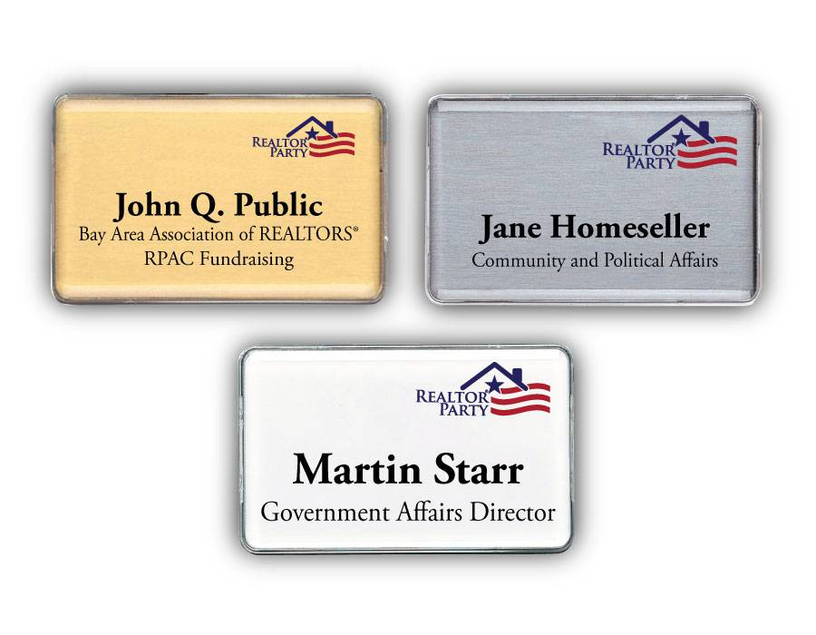REALTOR Party - Classic Name Badge