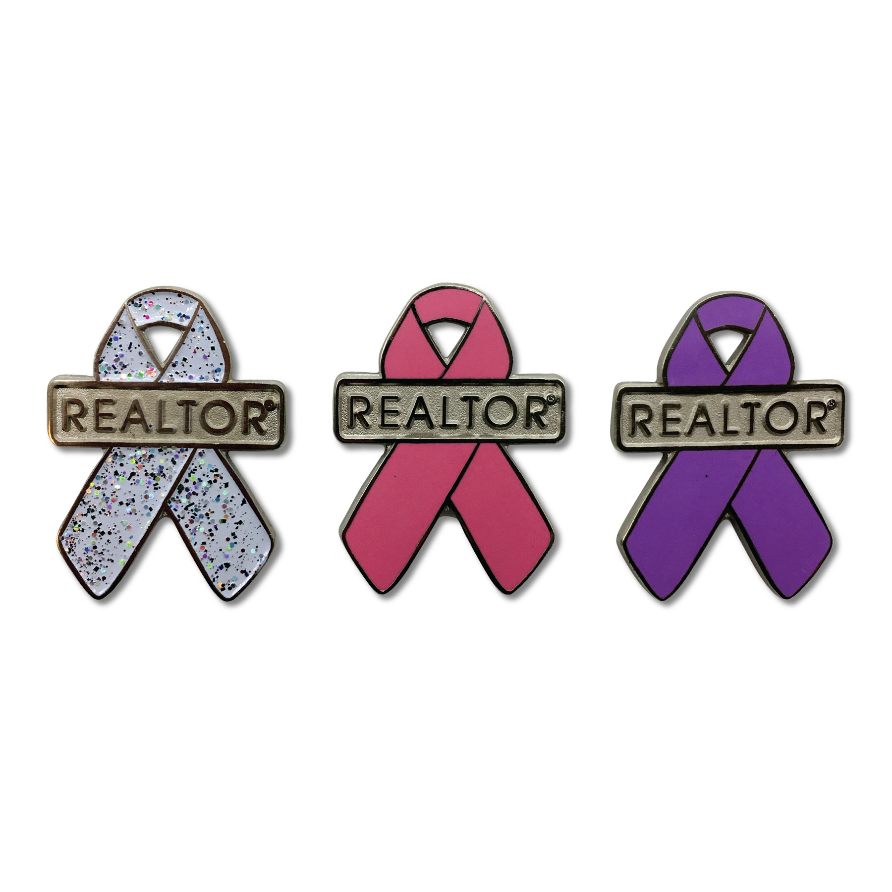 Awareness Ribbon Pin Cancer,Pins,Magnetics,Pink,Purple,Breasts,Boobs,
