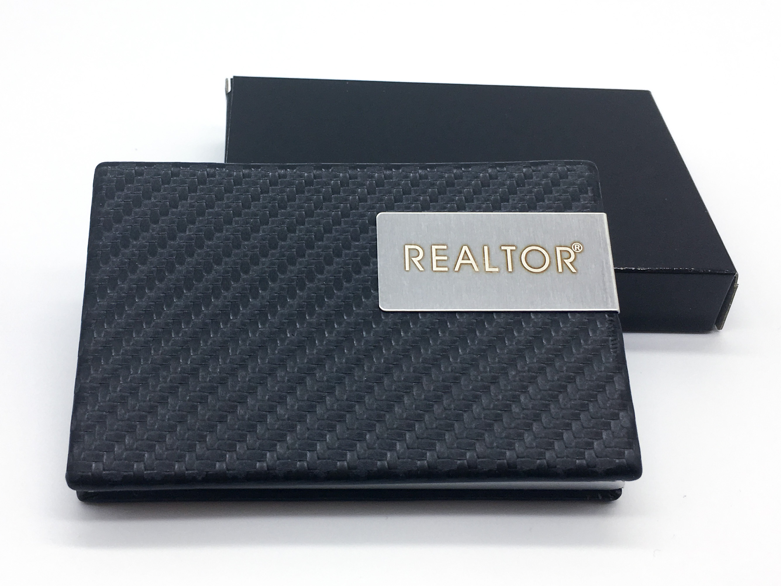 REALTOR® Carbon Mesh Business Card Case (RTS4676)