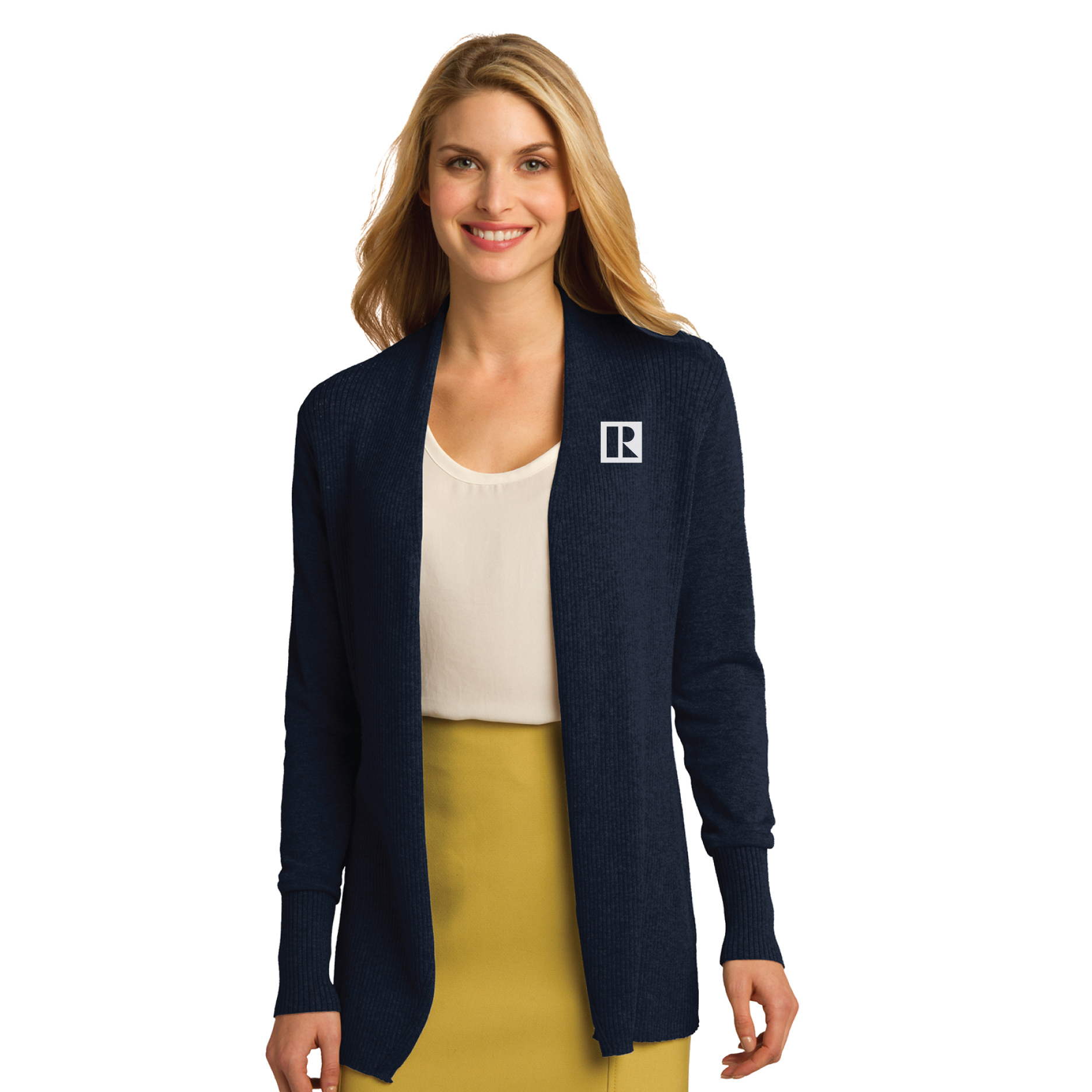 Ladies Open Front Cardigan Sweater - RCL4080