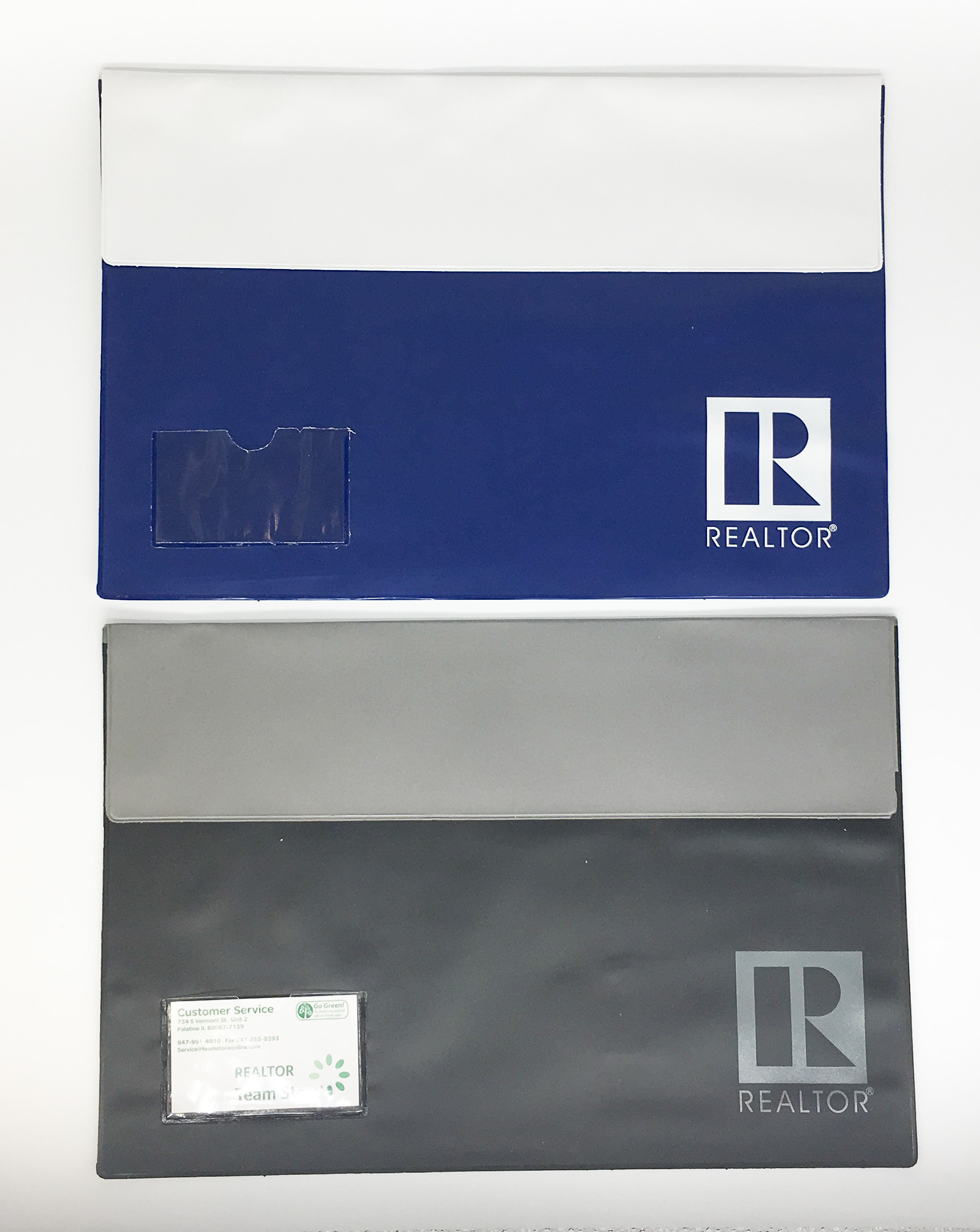 Two-Tone Legal Vinyl Folio with Business Card Case - RTS4679