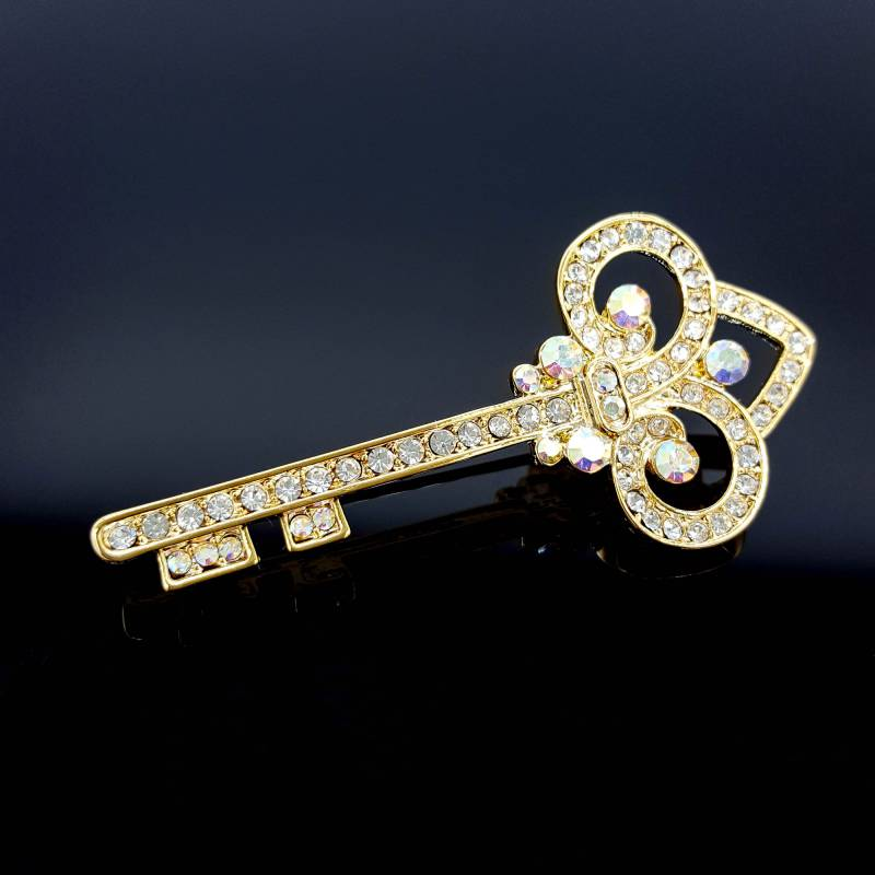 Rhinestone Key Pin