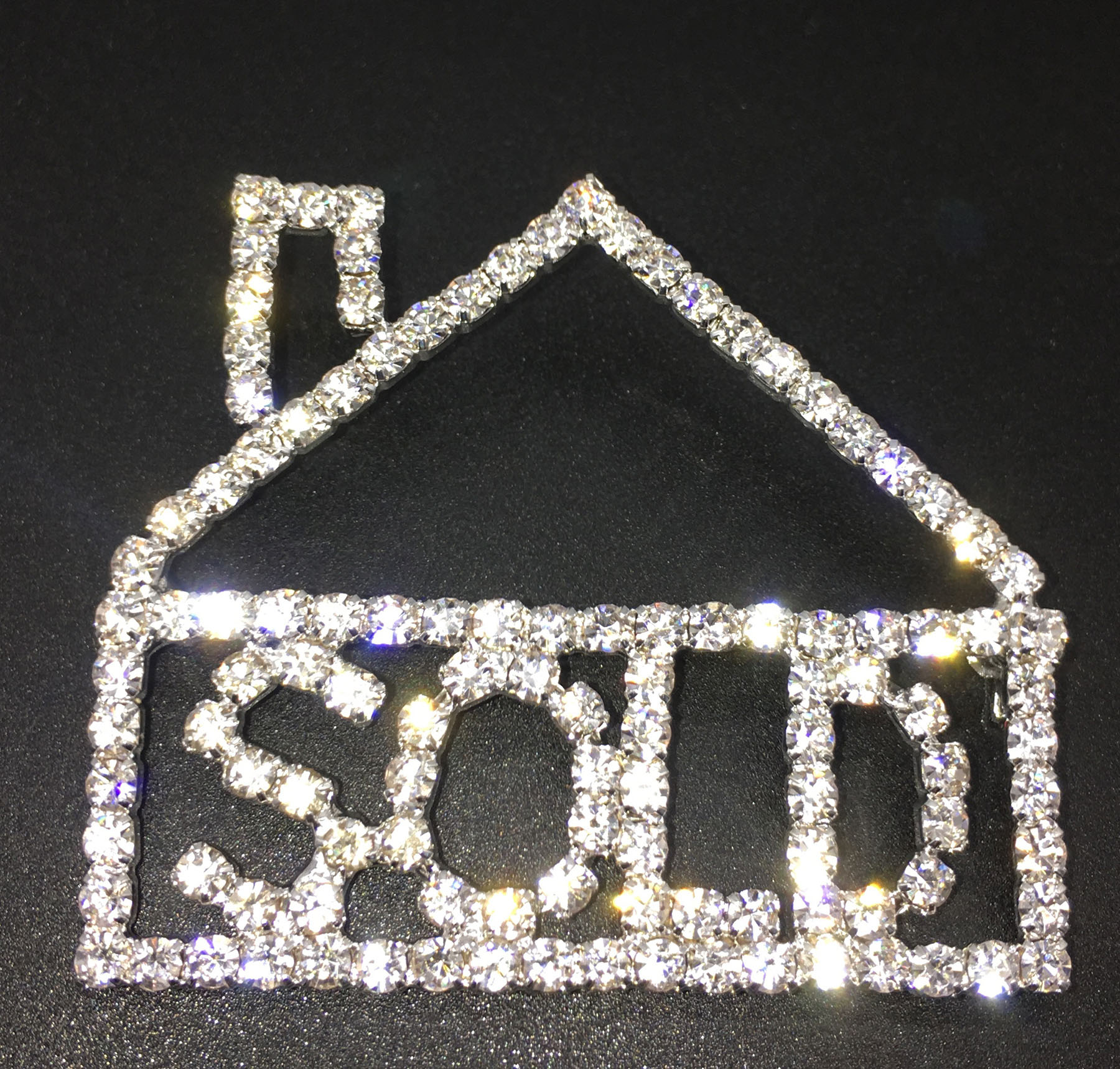 Rhinestone Sold House Pin - RTS8002
