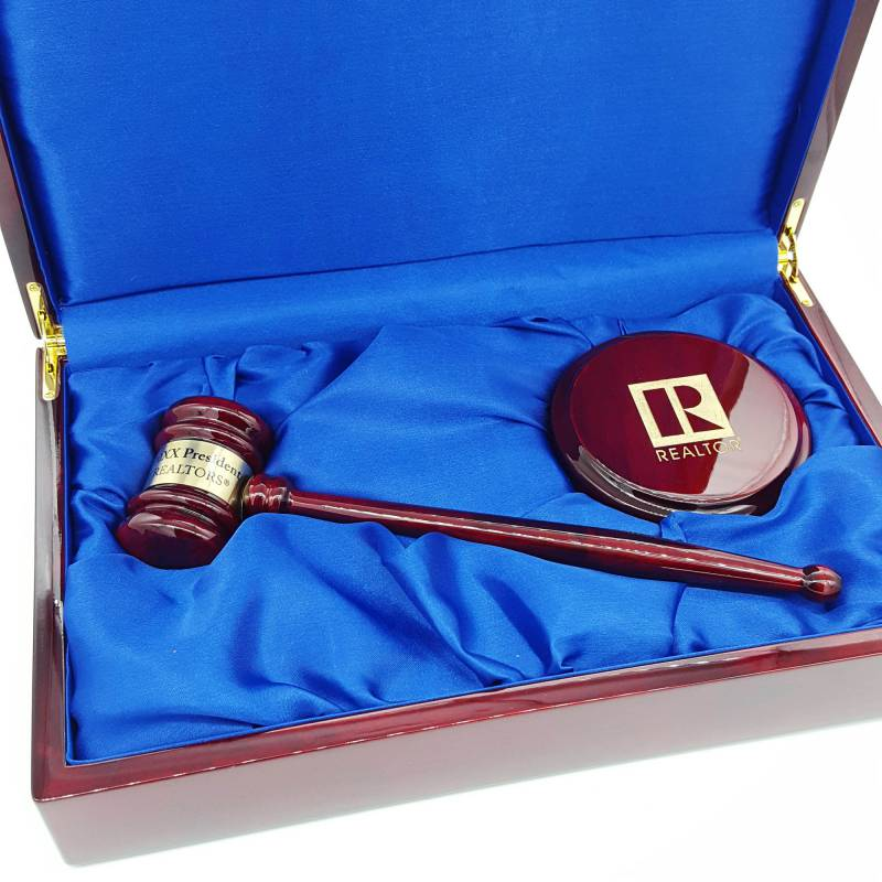 Rosewood Piano Finish Directors Gavel Set - WCR