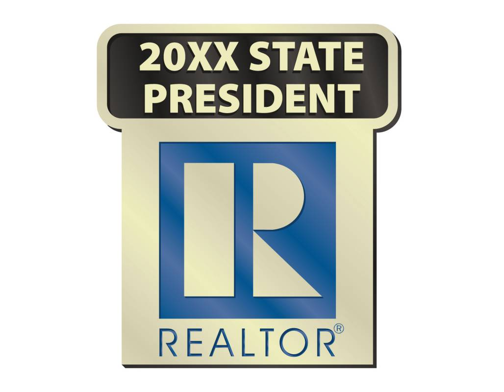 State President Pin 2014, 2015, 2016, 2017, 2018, 2019, 2020, 2021, 2022, 2023, pins, magnetics, realtors, lapels, local state presidents, locals, states, presidents, commercial, residential, years, stick pins, sticks