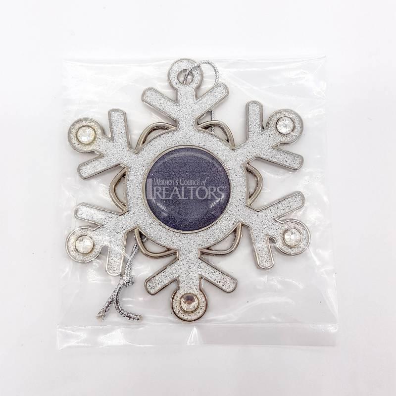 WCR Glitter Snowflake Ornament - WCR4350