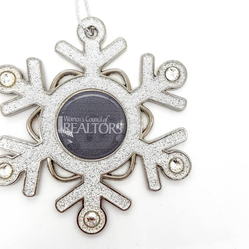 WCR Glitter Snowflake Ornament
