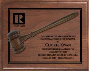 Traditional Presidents Gavel Plaque