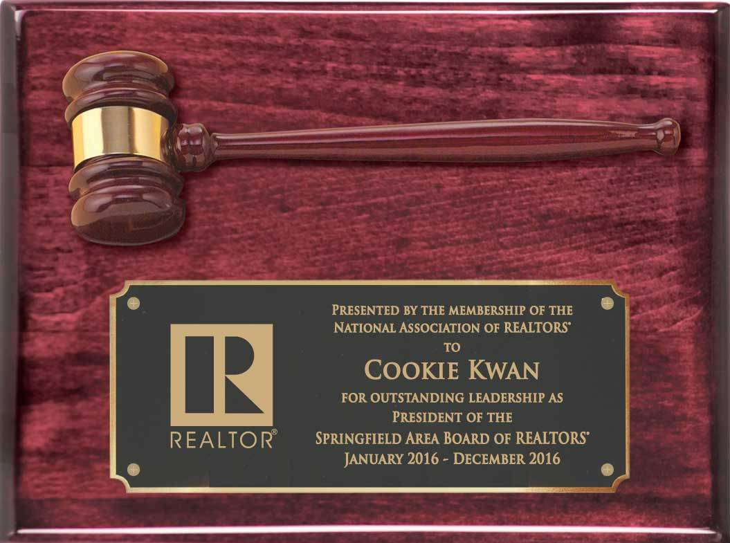 Classic Rosewood Presidents Gavel Plaque