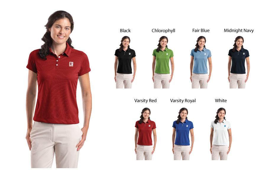 367a5bc9 ... Ladies Nike Golf Dri-FIT Pebble Texture Polo - RCL2280 ...