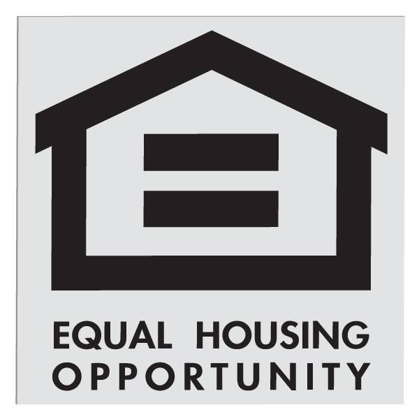 4in x 4in Equal Housing Decal fair, housing, equals, decals, laws, stickers