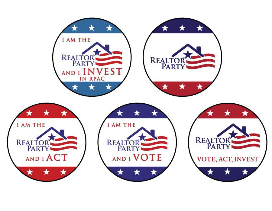 Campaign Buttons - Invest, Vote, Act