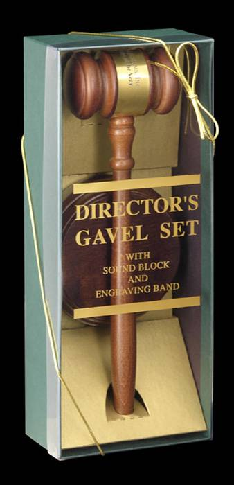 Deluxe Walnut Gavel Set
