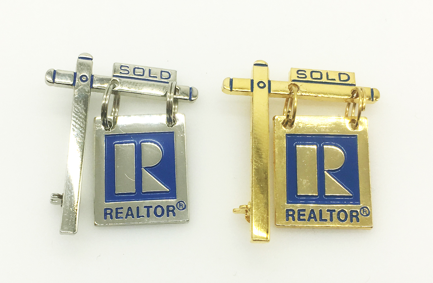 Sold Yard Sign Pin pins, magnetic, realtors, lapels, stick pins, sticks, brooch, for sale, for, sales, yards, signs, hangings, sold, golds
