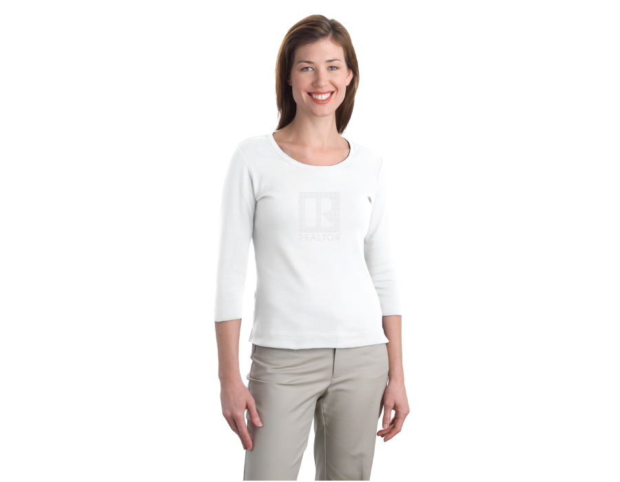 3/4 white shirt