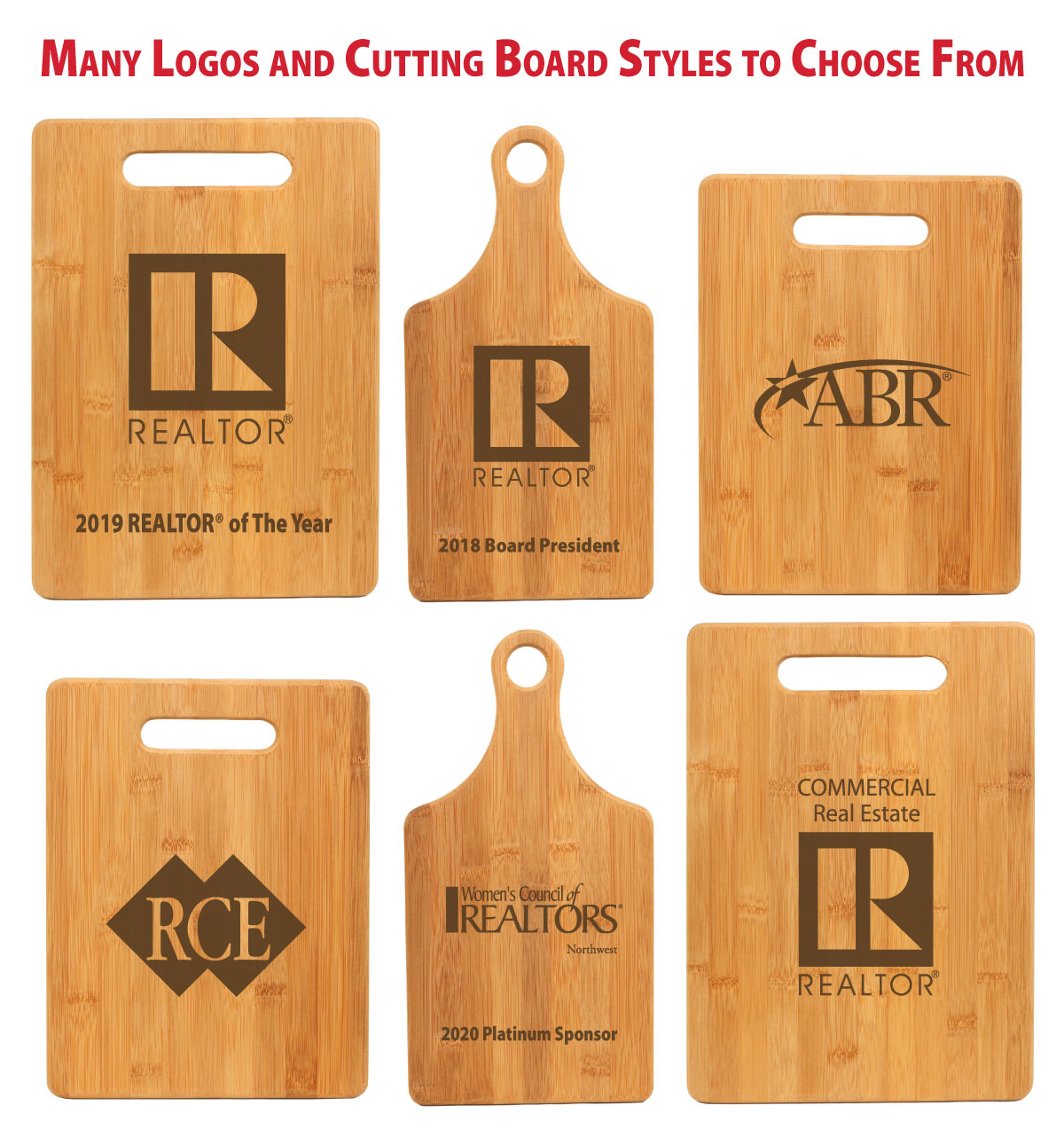 "Wood ""Pick Your Logo"" Cutting Board - BTO1011"