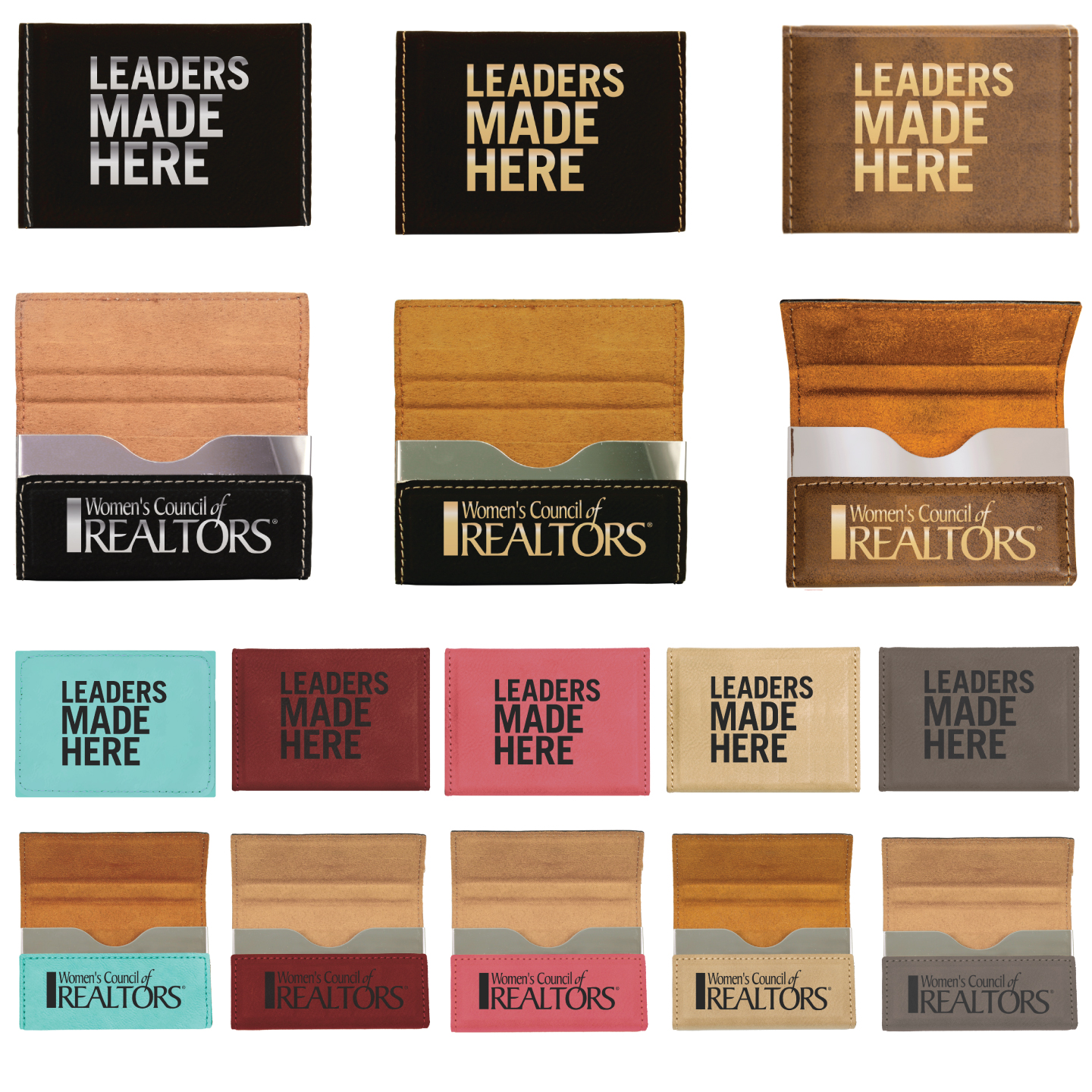 Leaders Made Here Card Case   Business Card Cases, Case, Office, Organizer, Leather, Gift, Give-away, Classy, Leaders, Leader, Network