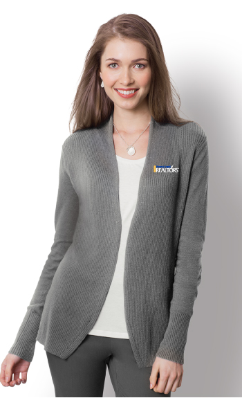 Ladies Open Front Cardigan Sweater - WCL2305