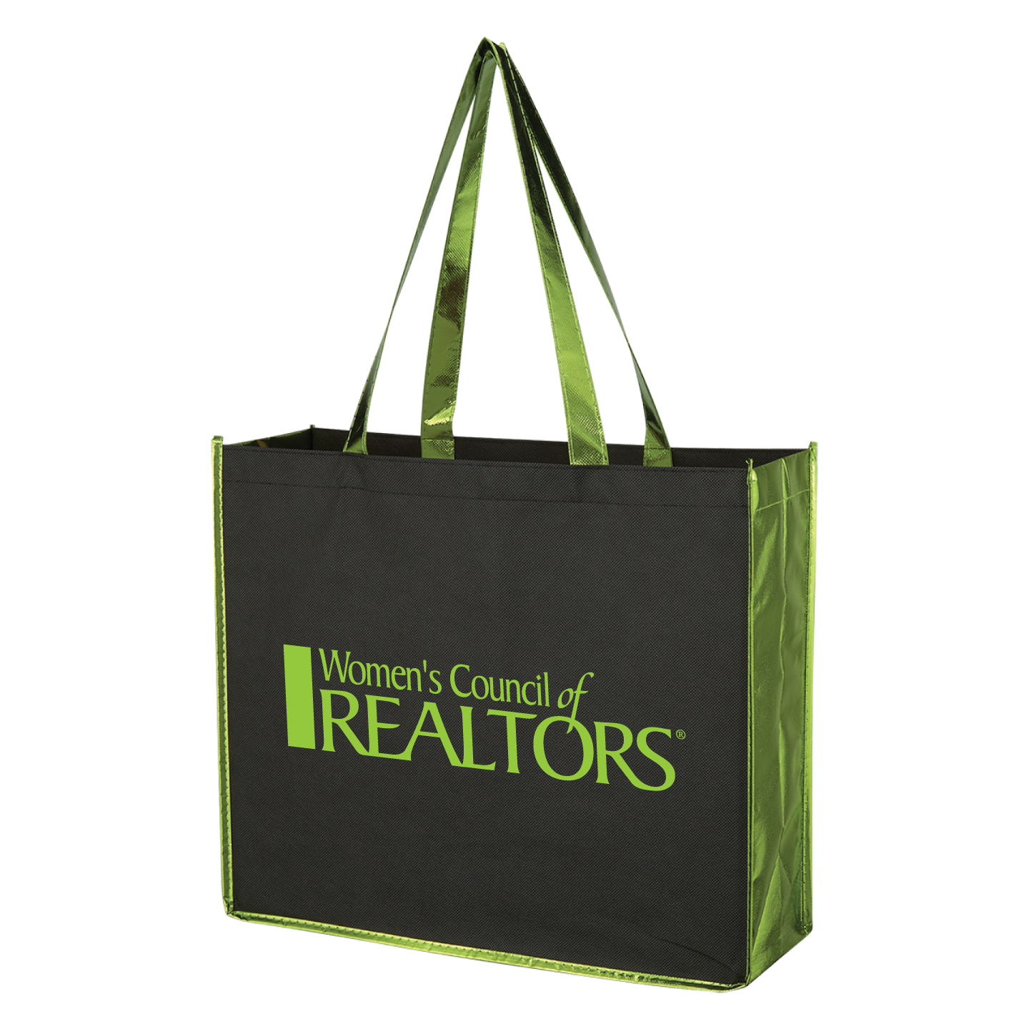 WCR Metallic Accent Convention Tote Convention, Installment, Tote, Bag, Metallic, Shiny, Sparkle, Fun, Grocery, Document, President, Network