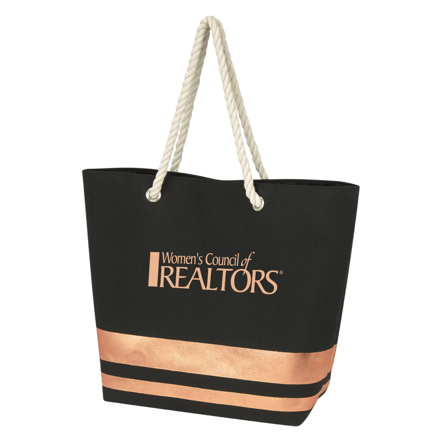 WCR Metallic Rope Tote Convention, Installment, Tote, Bag, Metallic, Shiny, Sparkle, Fun, Grocery, Document, President, Network
