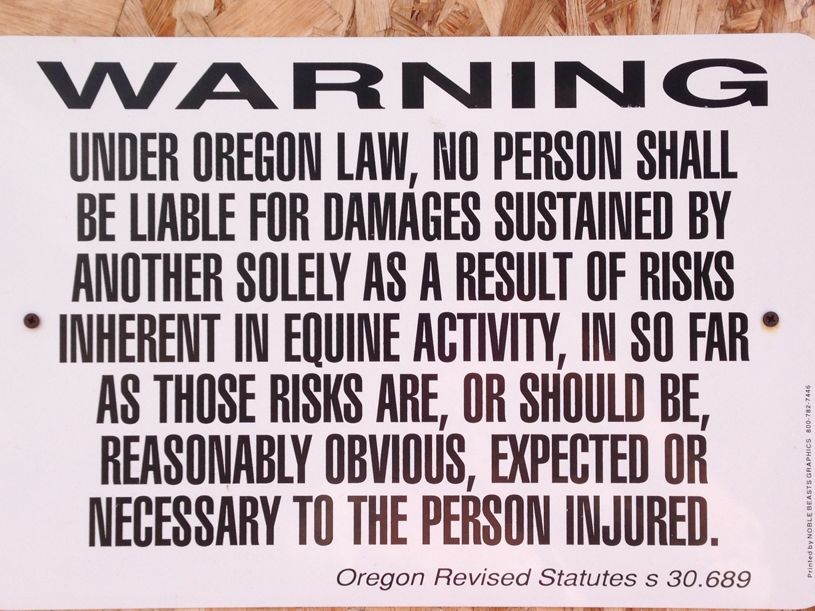 Warning: You Might Need to Post Signs at Your Horse Facility – The Horse