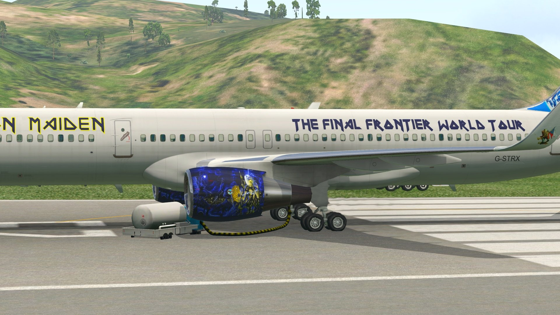 757 Version 2 G-STRX Iron Maiden Livery - Liveries - Threshold