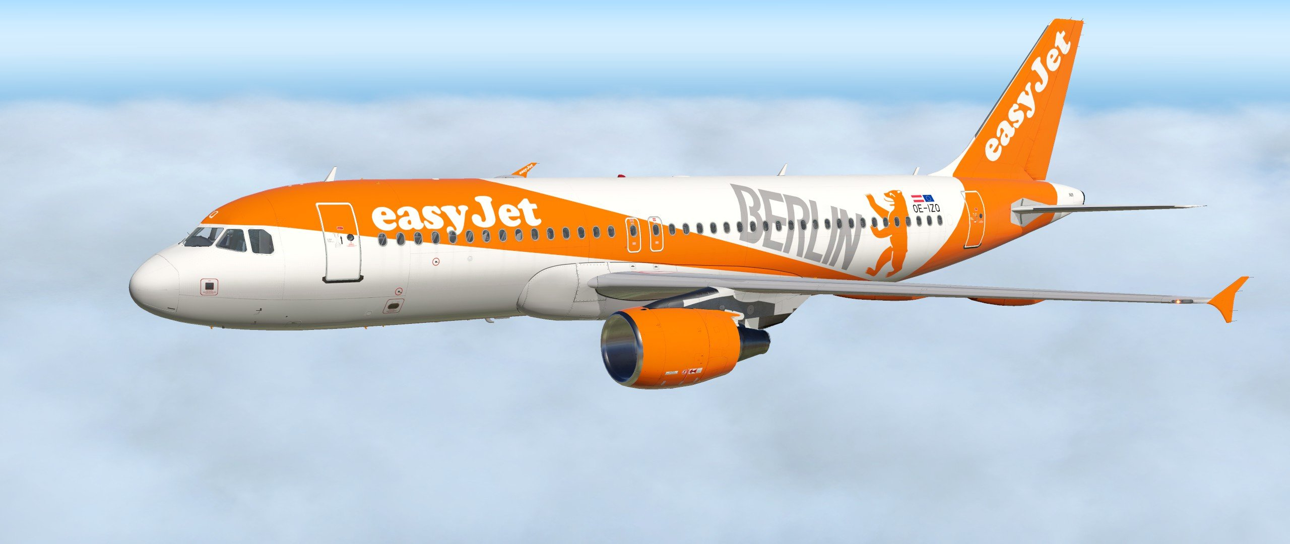 FF A320 – Easyjet Europe - Berlin livery - Liveries - Threshold