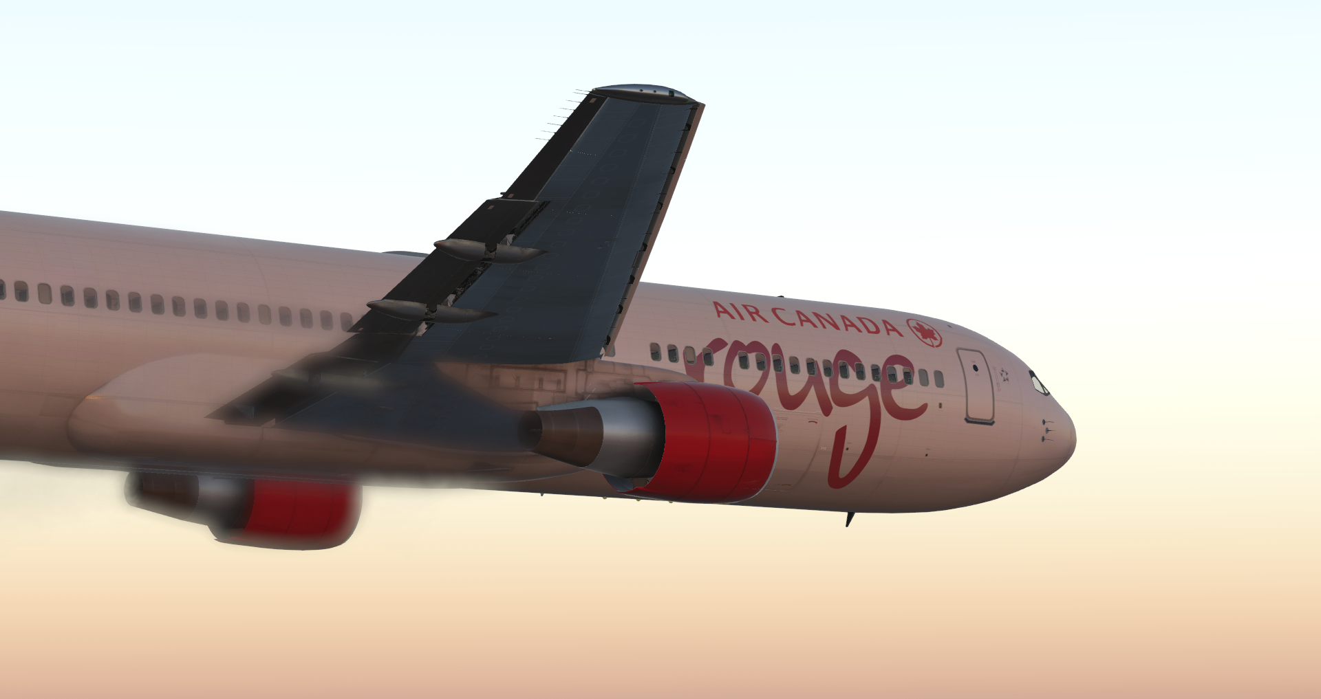 Flightfactor 767-300 [GE] [NWL] | Air Canada Rouge | C-GDUZ