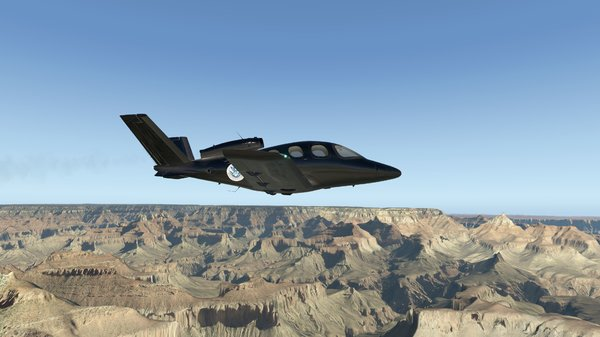 Custom CirrusJet over Grand Canyon