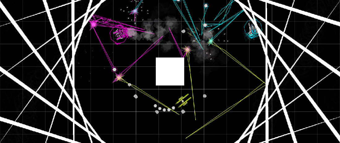 A screenshot from SuperLuminauts