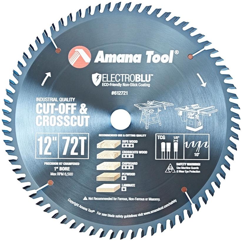 "612721C AMANA 12"" /72T CROSS-CUT T.C.G. GRIND"