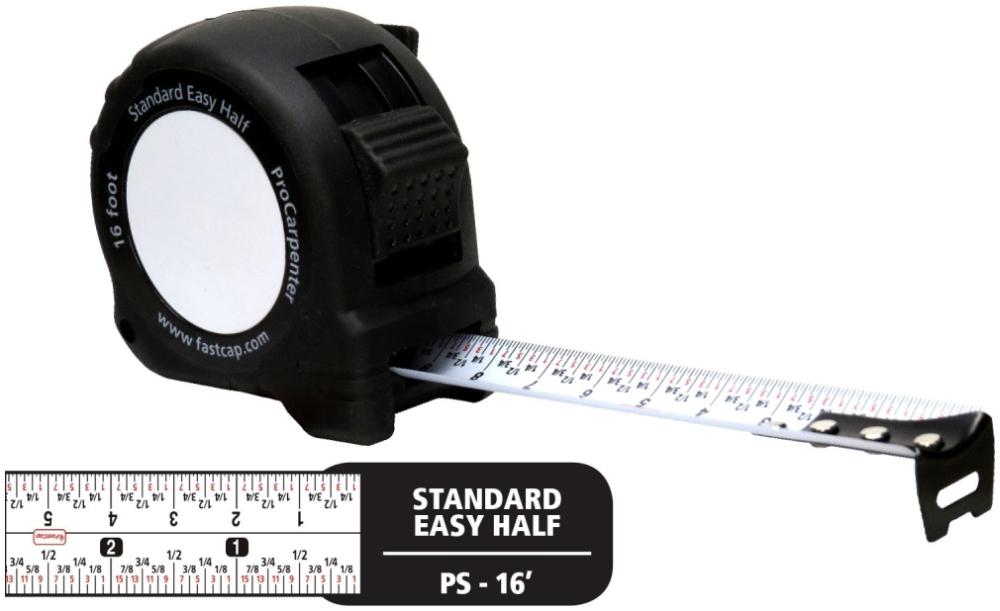 PS-16 FASTCAP 16' TAPE MEASURE STANDARD W/PAD
