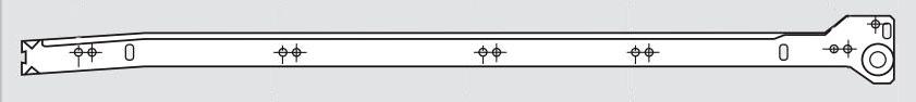 "230M5500P BLUM DRAWER RUNNER POLYBAGGED 22"" WHITE 3/4 EXTENSION 29202316"