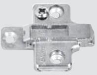 175H7130 BLUM CLIP & INSERTA MOUNTING PLATE (3MM) ZINC DIE CAST 07322903