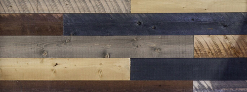 "AWIAB-FULL Coeur d'Alene Xcelerated Wood 14 Piece Box - Reclaimed Lumber 25 SQFT Coverage Brown, Grey, & Charcoal 3/8"" x 5-7/16"" x 48"""
